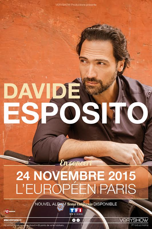 davide esposito en concert l 39 europ en le 24 novembre paris. Black Bedroom Furniture Sets. Home Design Ideas