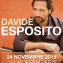 Davide Esposito en concert à l'Européen le 24 Novembre à Paris